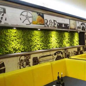 Green walls for restaurants and cafes