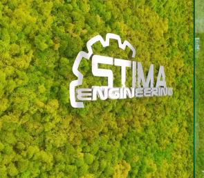 Green wall at Stima Engineering's building